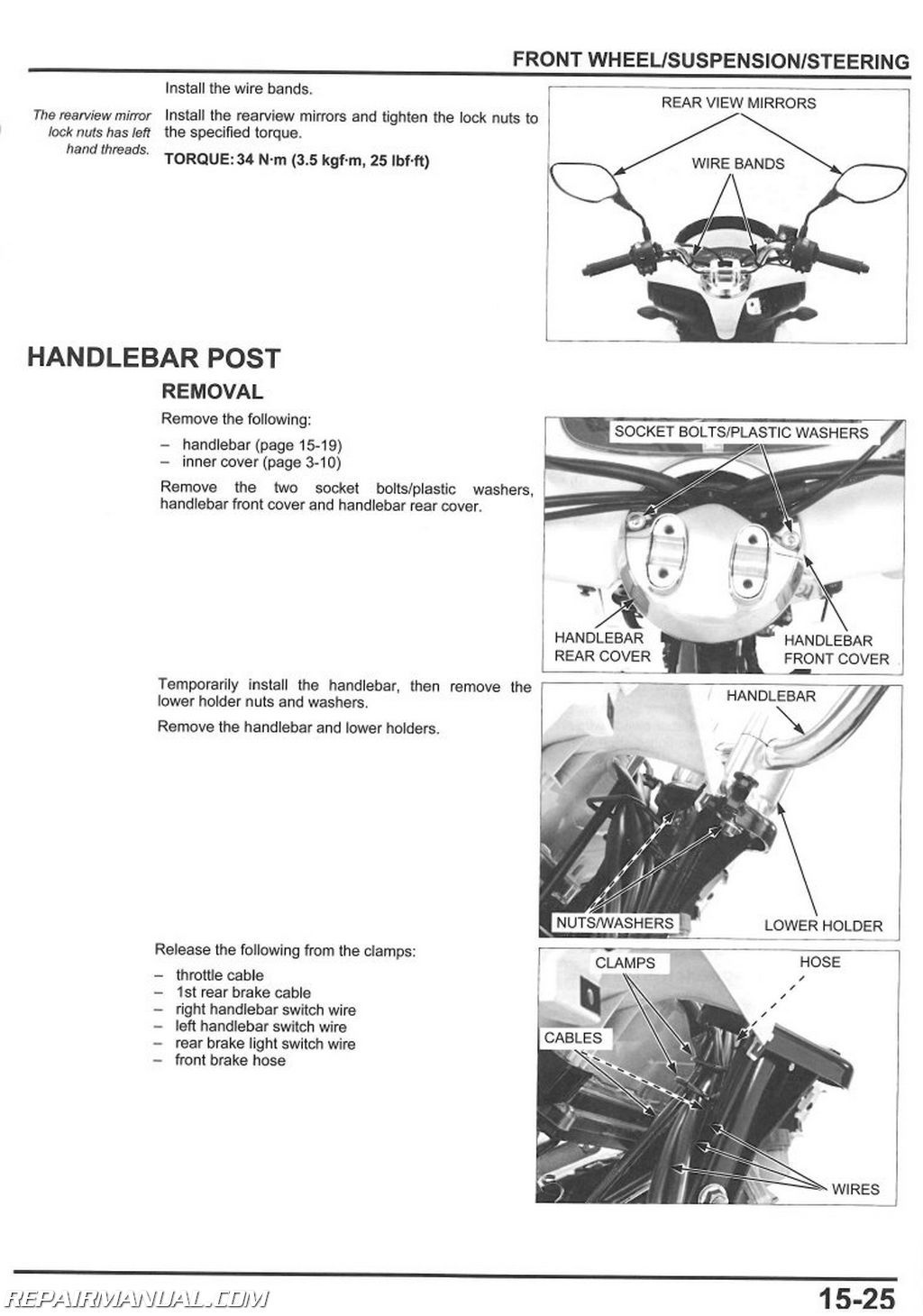 Honda Pcx125 Scooter Service Manual