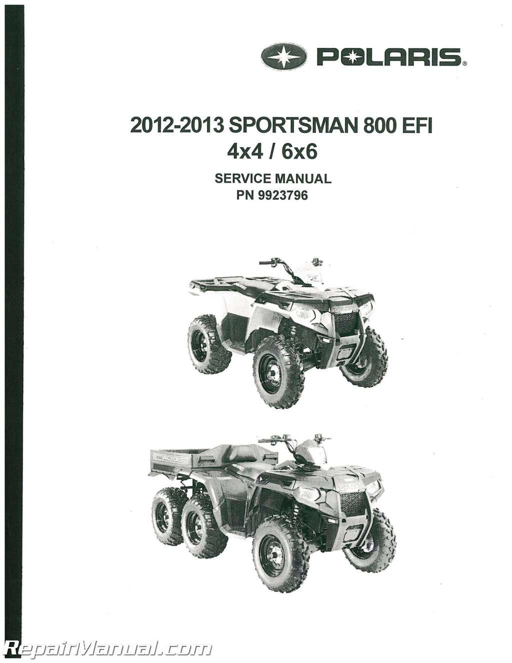 Sportsman 800 Efi 4 X 4 6 X 6 Big Boss Service