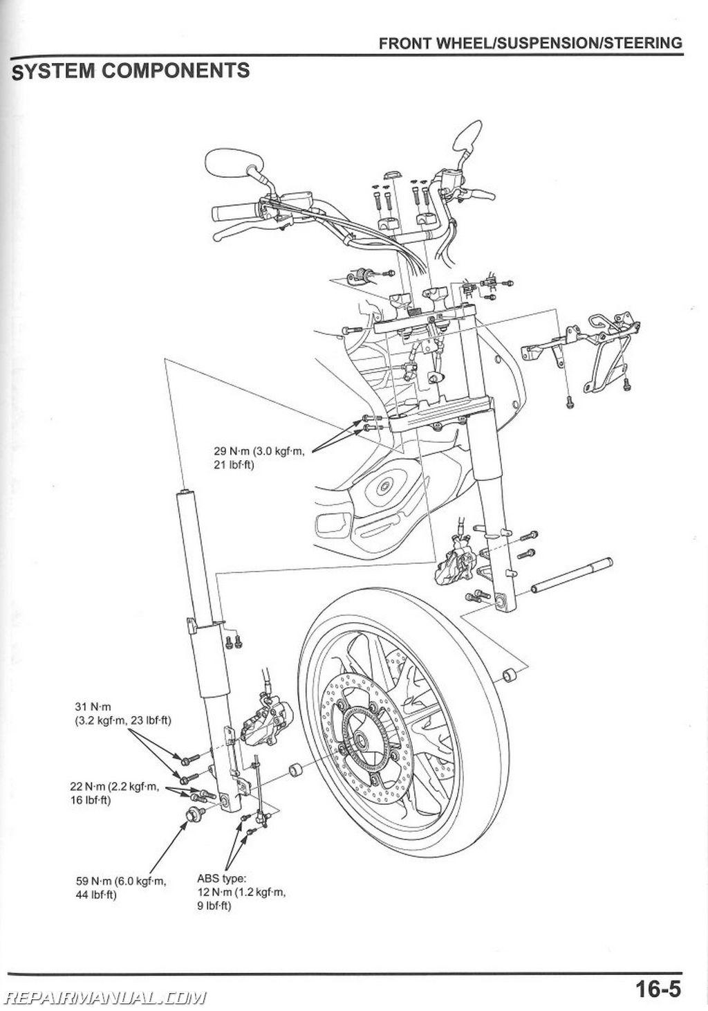 Honda Gl C A Valkyrie Motorcycle Service Manual