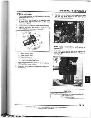 2015 Polaris 850 850 SP 1000XP Sportsman Scrambler ATV Service Manual