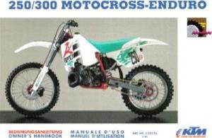 1992 KTM 250 300 Motocross Enduro Owners Handbook | eBay