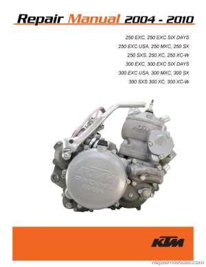 2004 – 2010 KTM 250 300 Two Stroke Printed Motorcycle