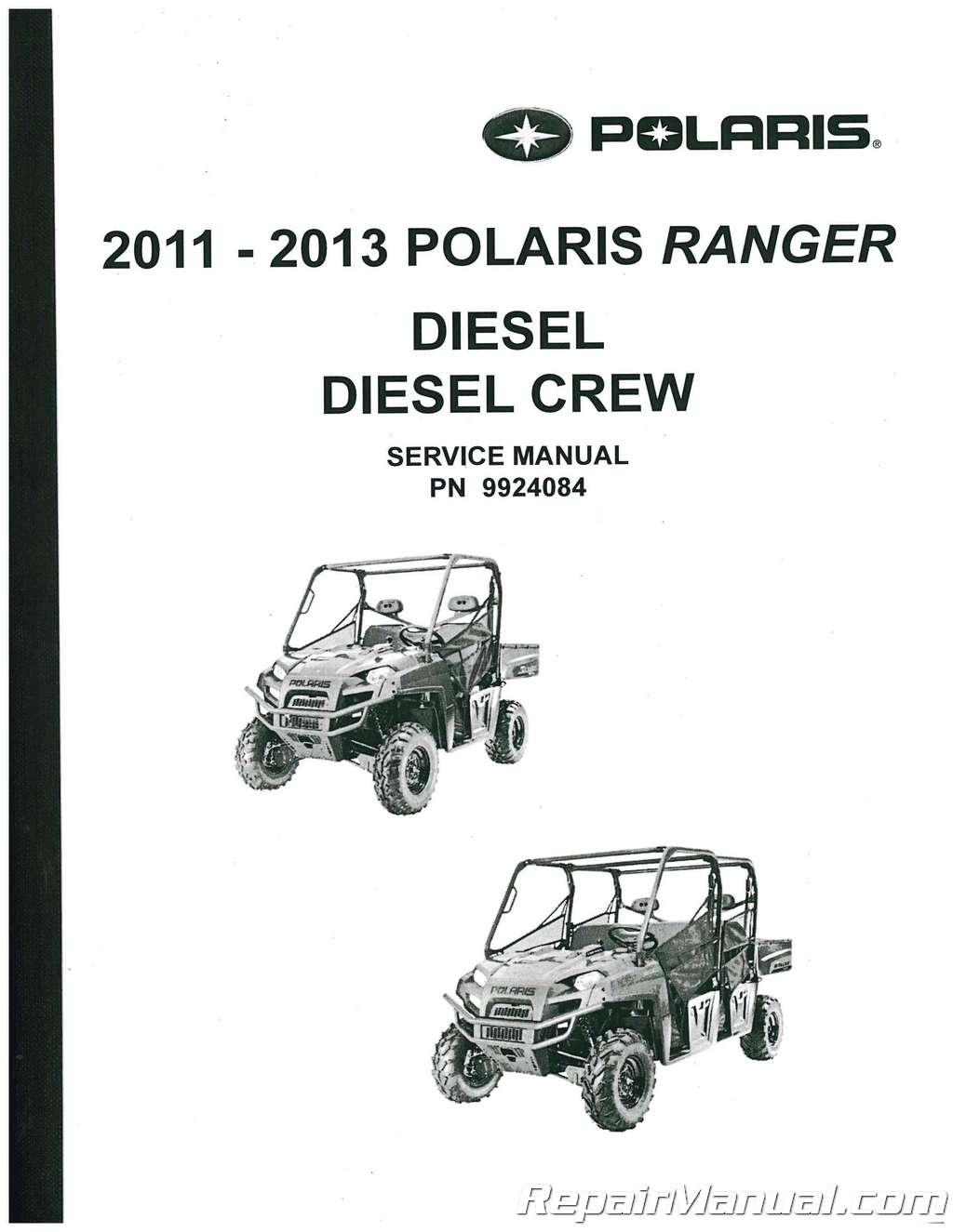 Polaris Rangersel Crew Utv Service Manual