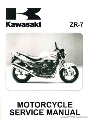 Kawasaki ZR750F ZR7 Motorcycle Manual 19992003