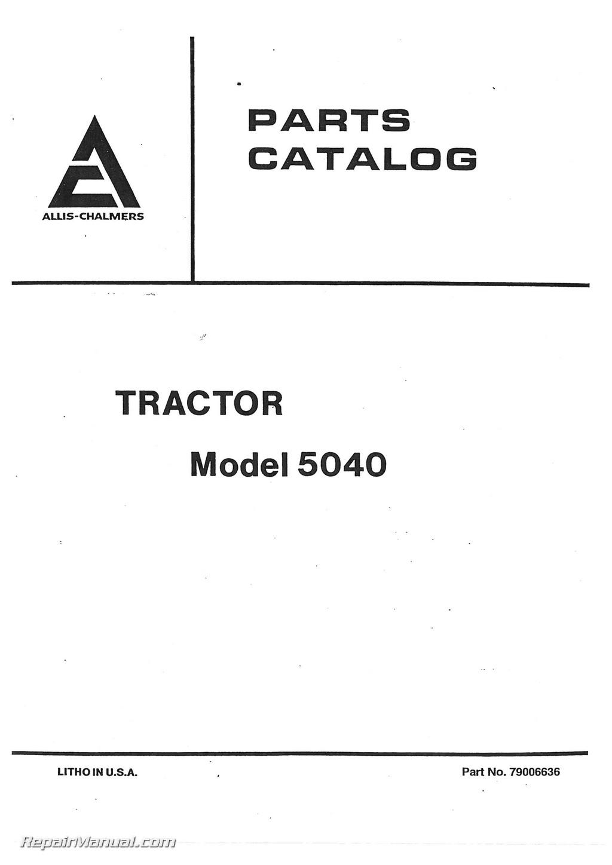Allis Chalmers Parts Manual