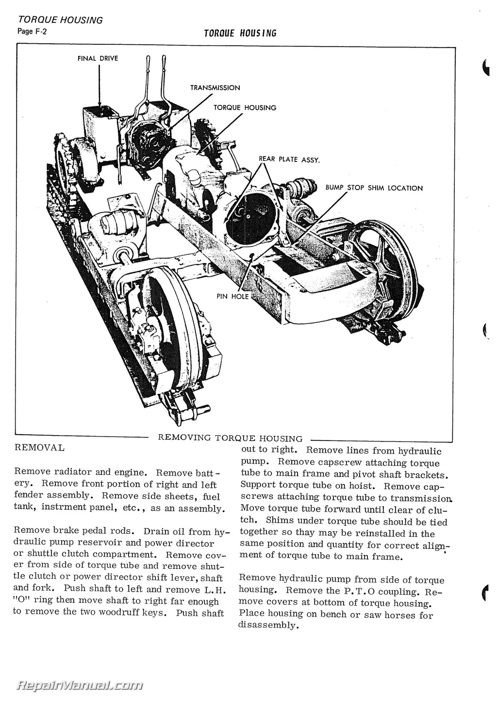 Allis Chalmers Clutch And Transmission Diagram Engine