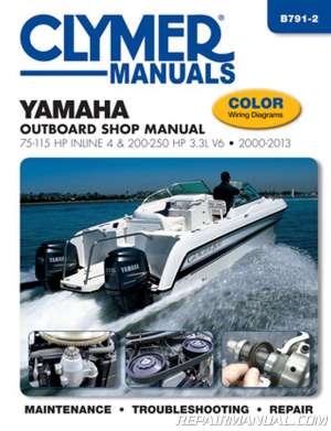 20002013 Yamaha Outboard Shop Manual 75115 HP Inline 4