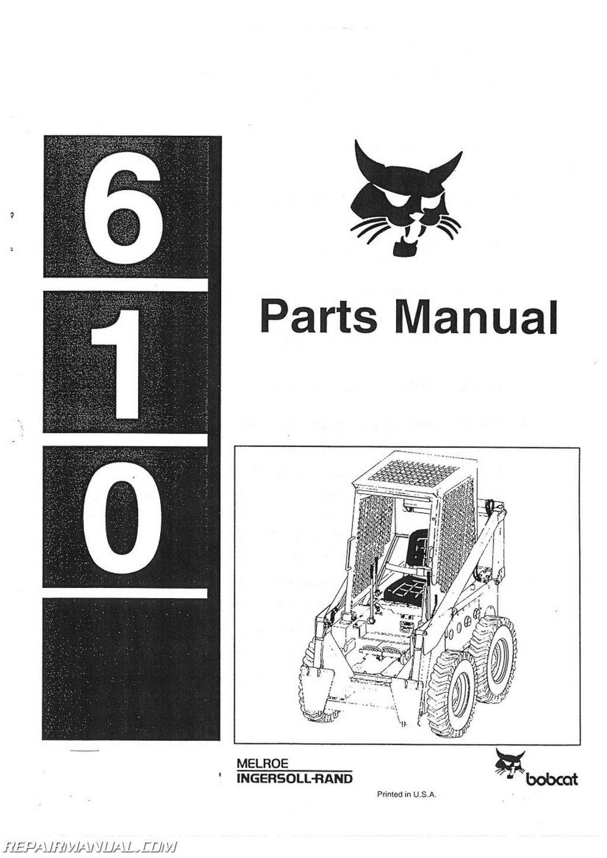 Bobcat 610 Parts Manual