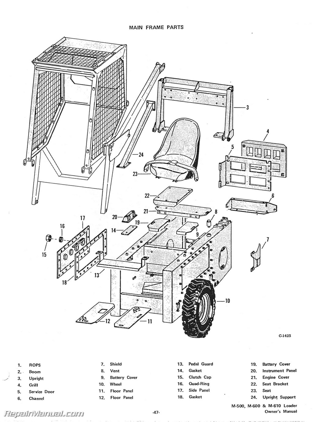 Skid Steer Case C Parts Diagram Images Auto Fuse Box