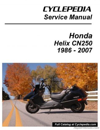 honda cn250 helix scooter printed service manualcyclepedia