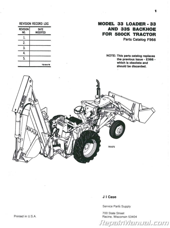 Case International 33 Loader Backhoe Only 580 Construction