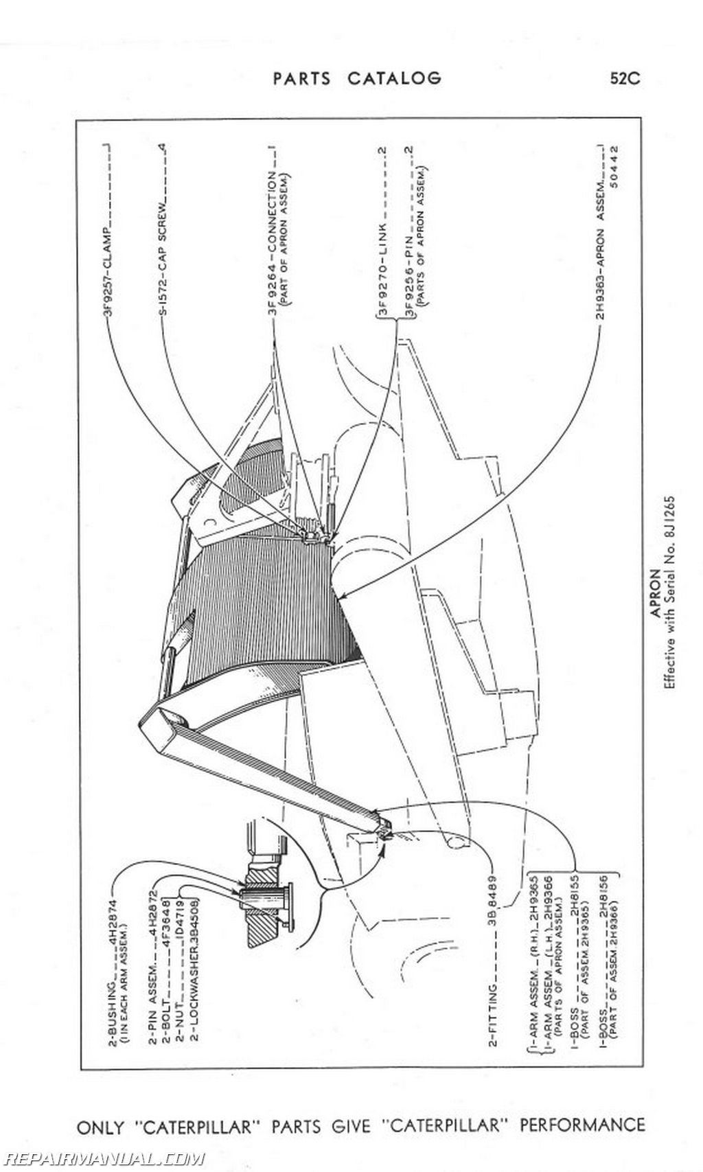 Caterpillar No 21 Sc R Parts Manual