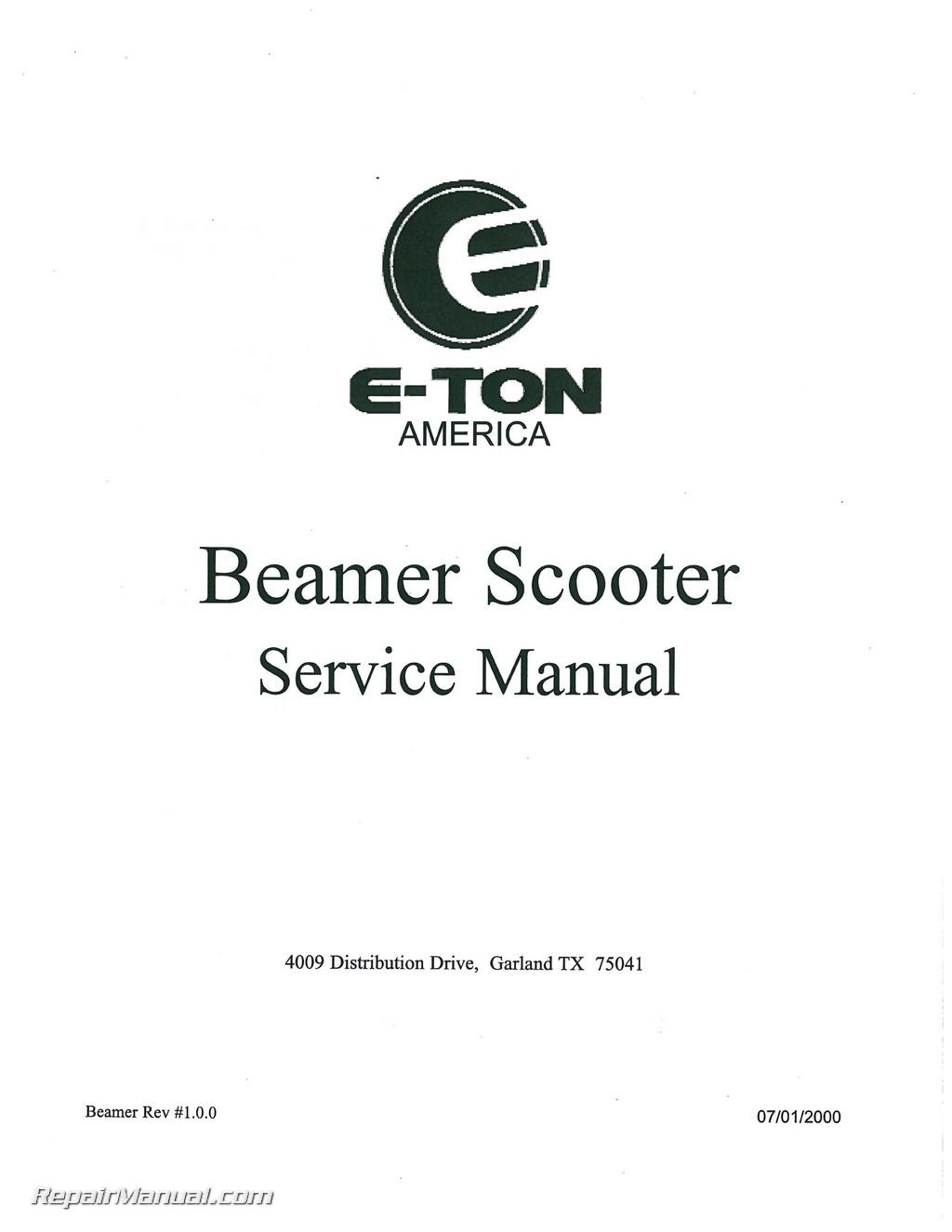 Eton Beamer Scooter Service Manual