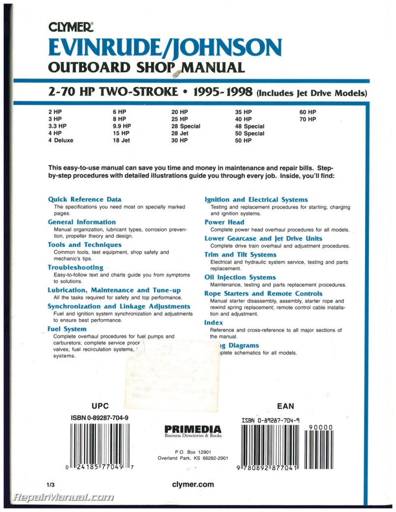 4 Hp Johnson Outboard Manual 1998 Sample User