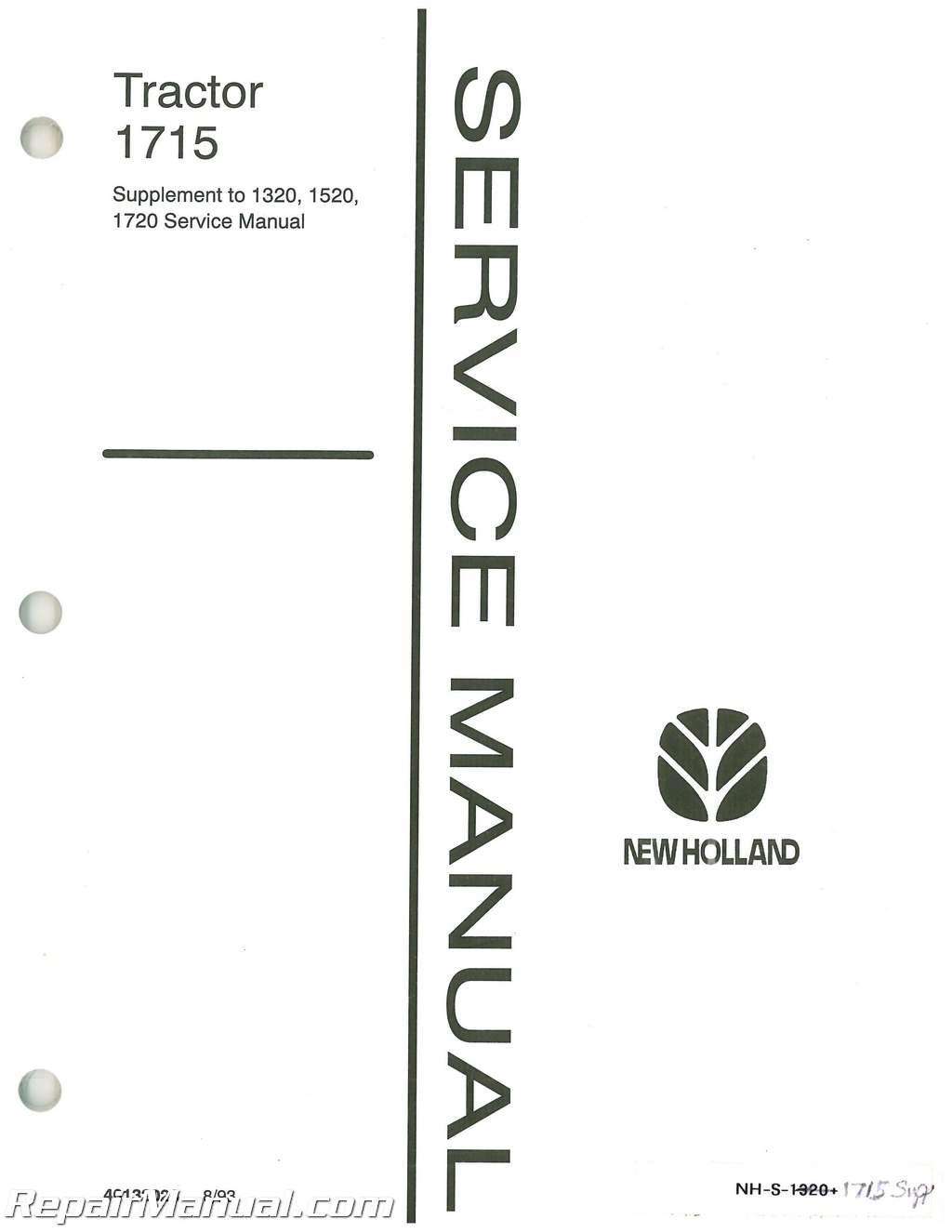 Ford Tractor Repair Manual Supplement