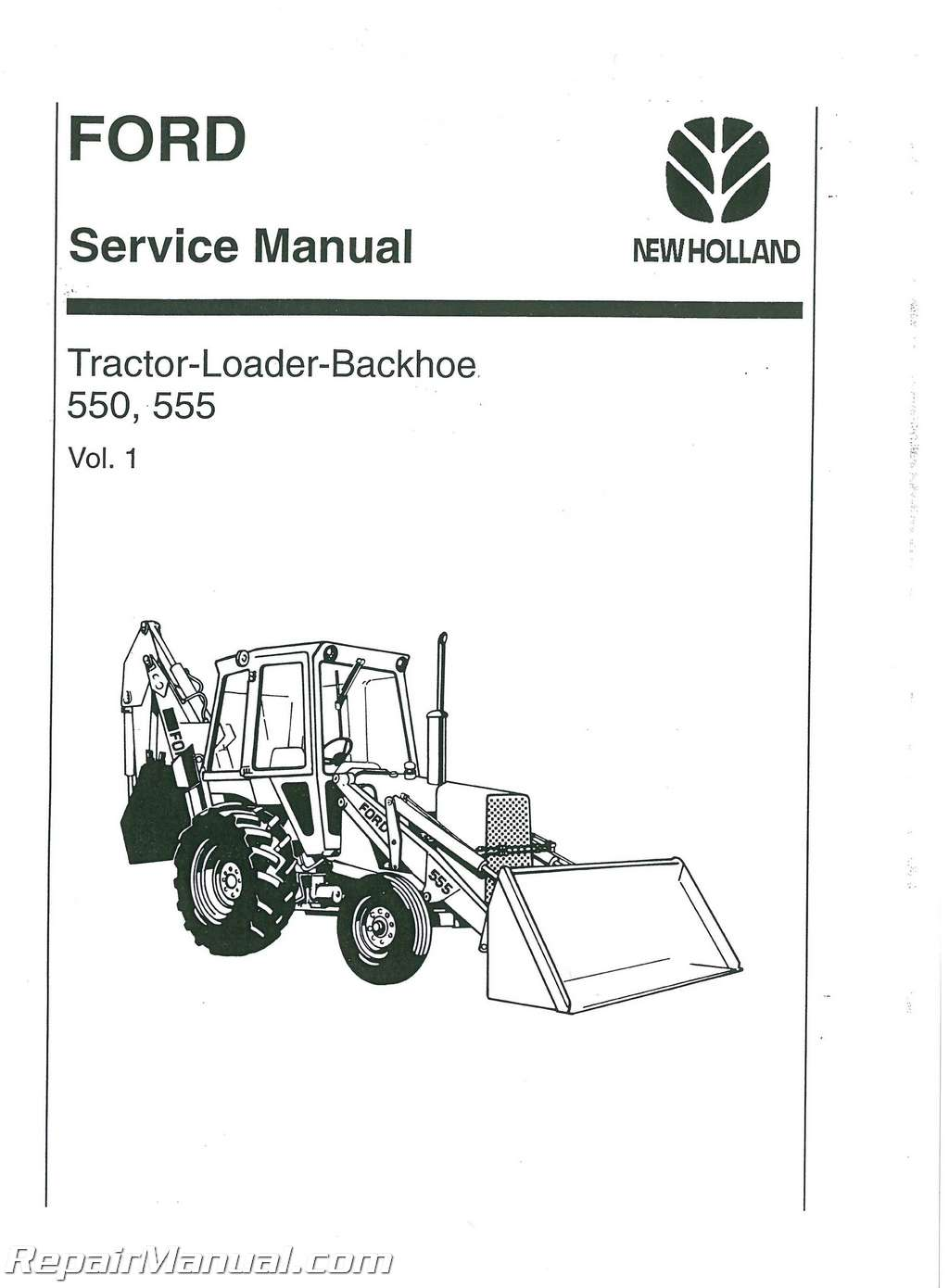 Ford 550 And 555 Tractor Service Manual