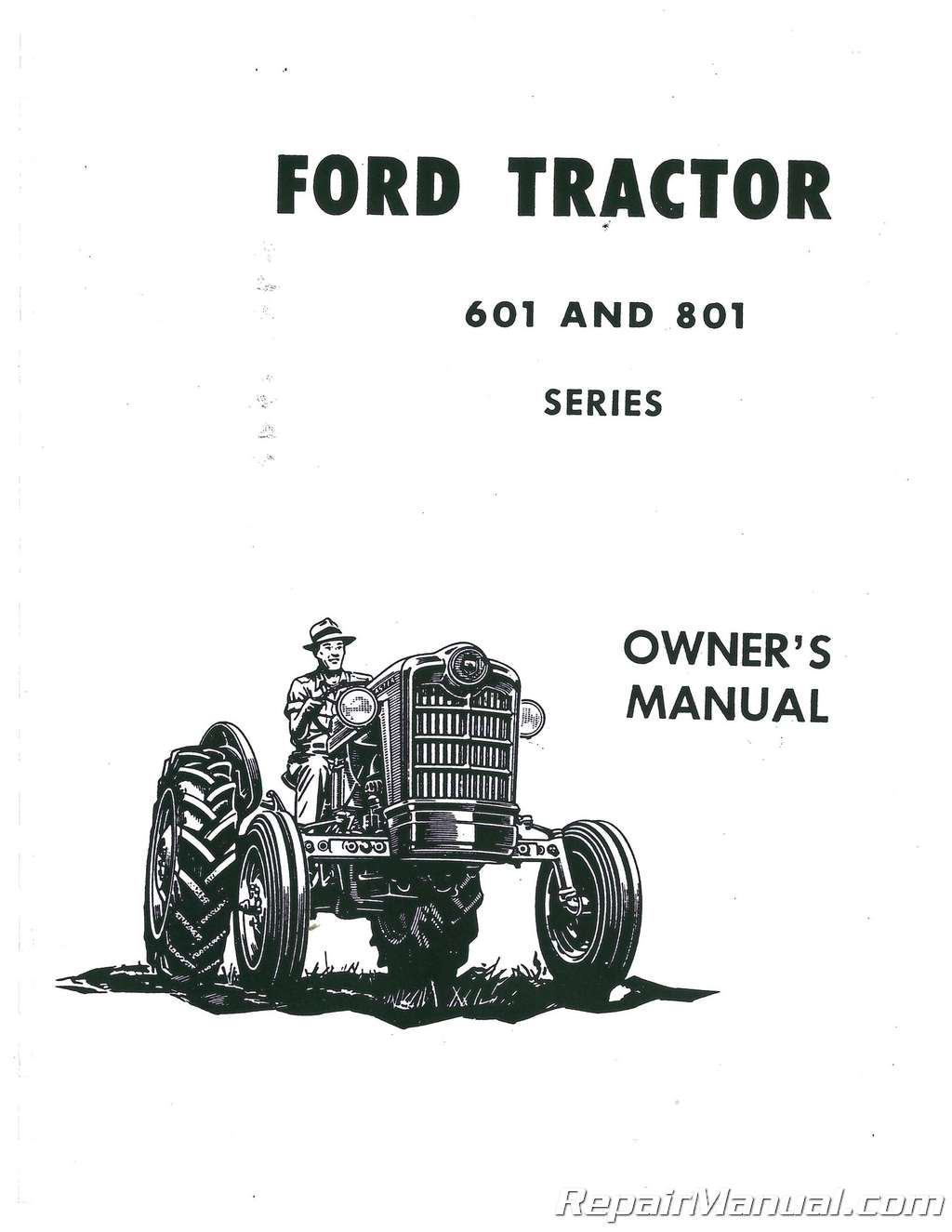 ford 601 operators manual