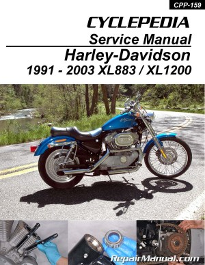 HarleyDavidson XL883 XL1200 Sportster Printed Cyclepedia Motorcycle Manual 19912003