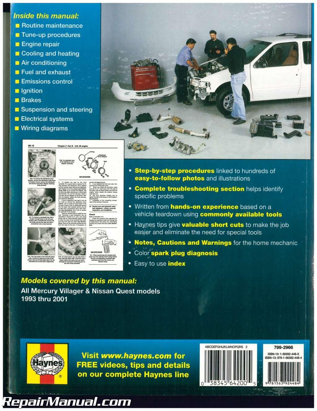 1993 Villager Fuse Box Diagram Wiring Library Mercury Repair Manual Thumb