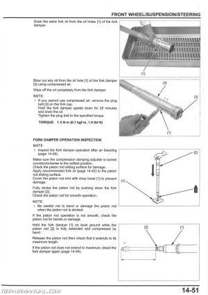 20142015 Honda CRF250R Motorcycle Service Manual