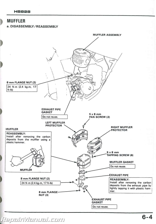 Honda Hs624 Hs724 Hs828 Hs928 Hs Snowblower Shop Manual