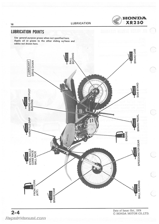 Honda Xr250 Service Manual
