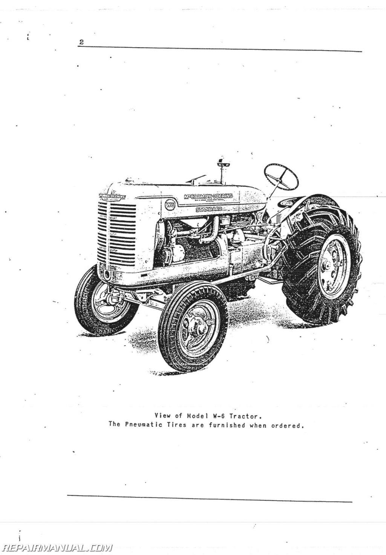 International Harvester Farmall W6 Operators Manual