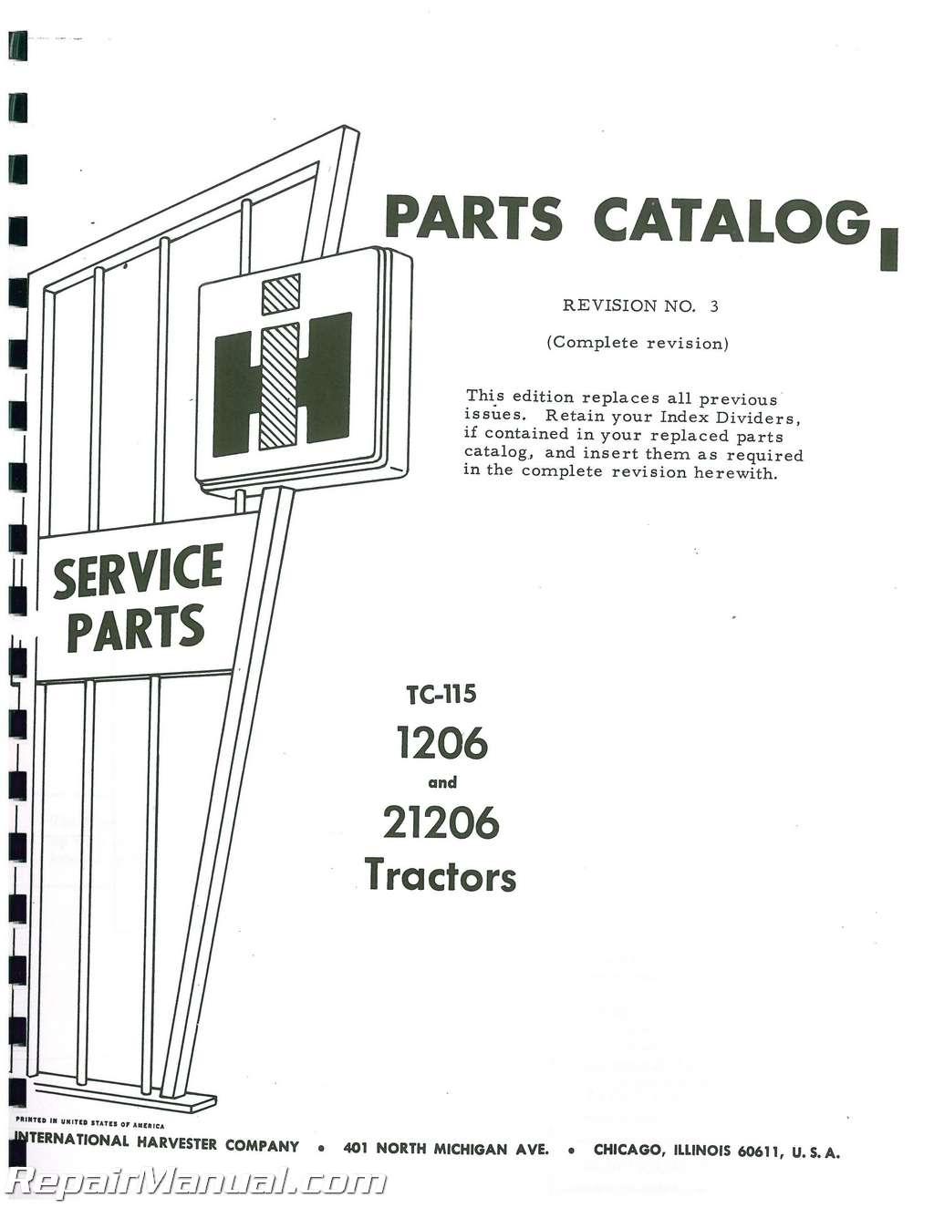 International Harvester Andsel Parts Manual