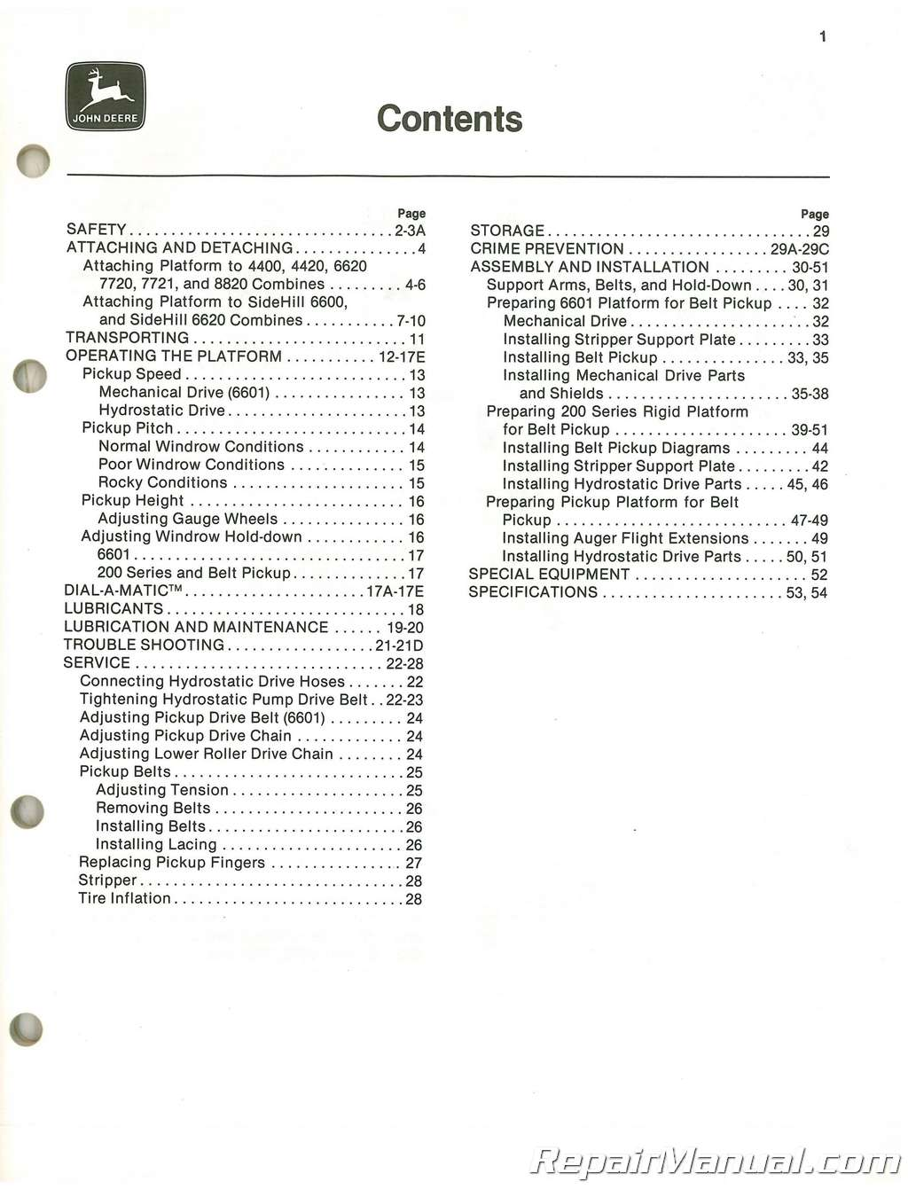 Used John Deere 110 132 And 154 In Three Roller Belt