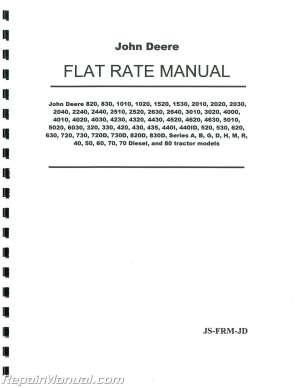 John Deere Tractor Flat Rate Manual