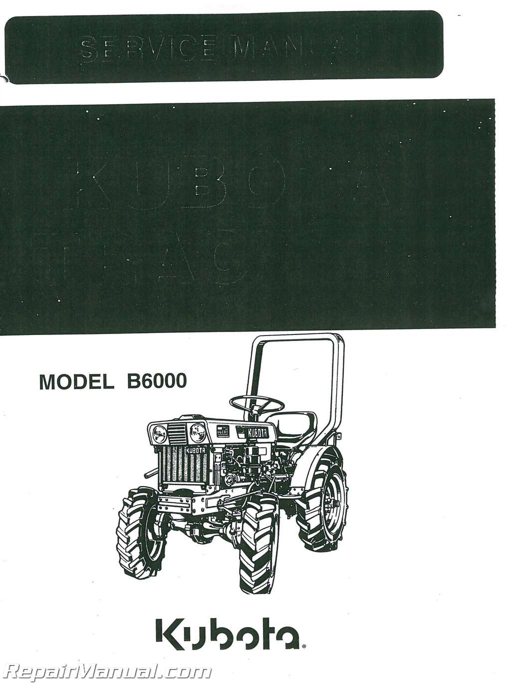 Kubota B Dsl Tractor Service Manual
