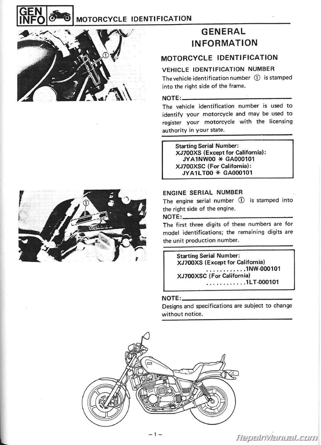 1985 Yamaha Maxim 700 Parts Xj700 Wiring Diagram