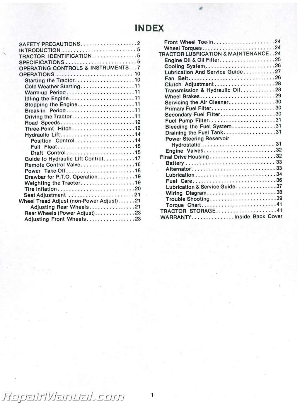 Long 360sel Tractor Operators Manual