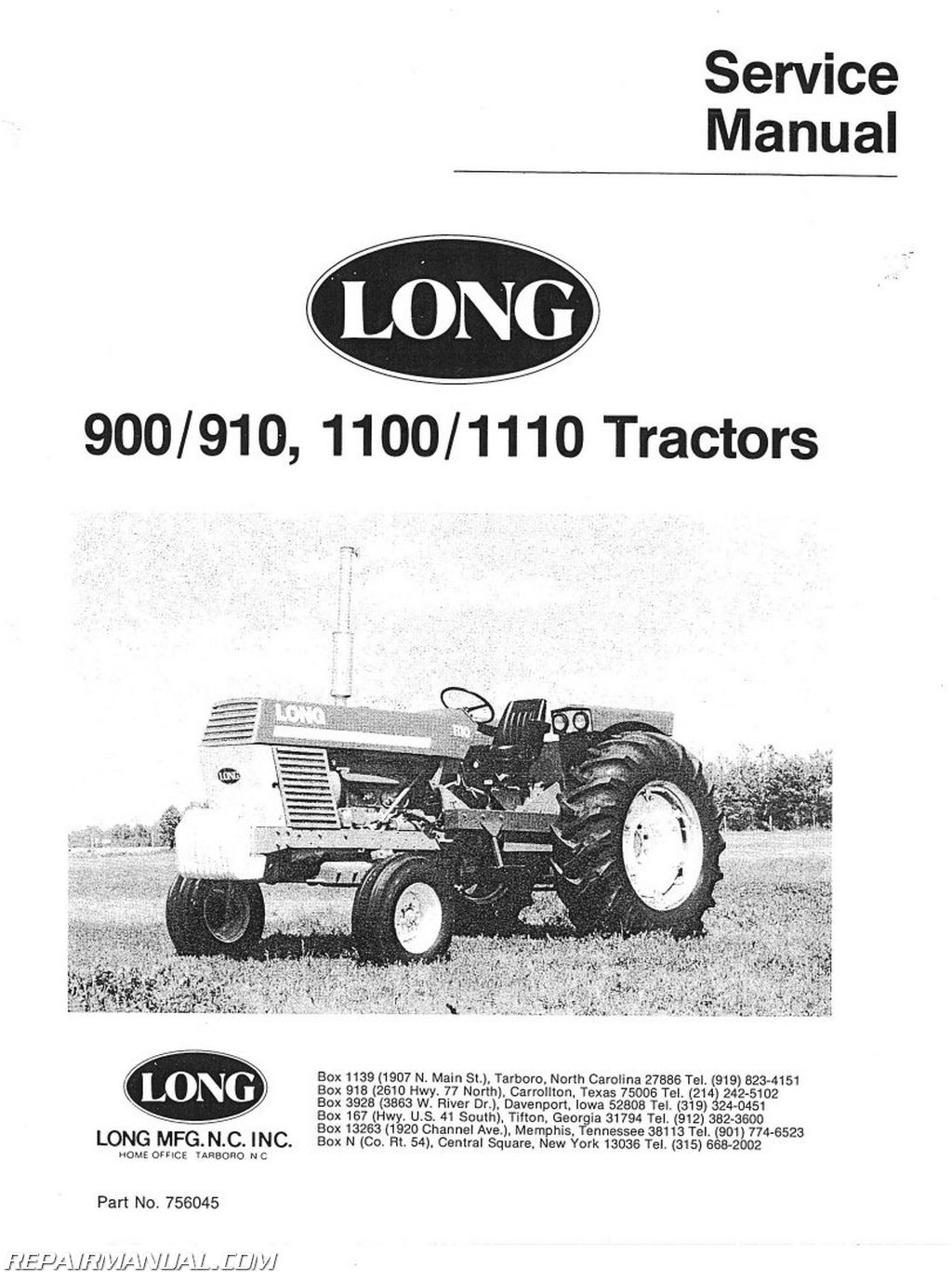 Long 900 910 Series Service Manual