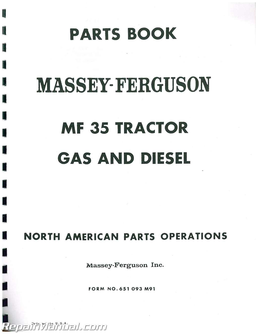 Mf35 Wiring Diagram. Ferguson To35 Wiring Diagram, Massey Harris ...