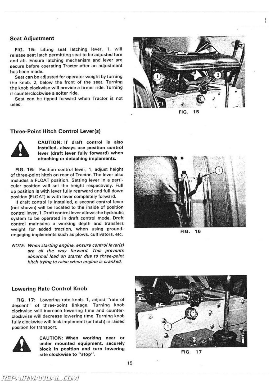 Massey Ferguson Mf And Mf Operators Manual