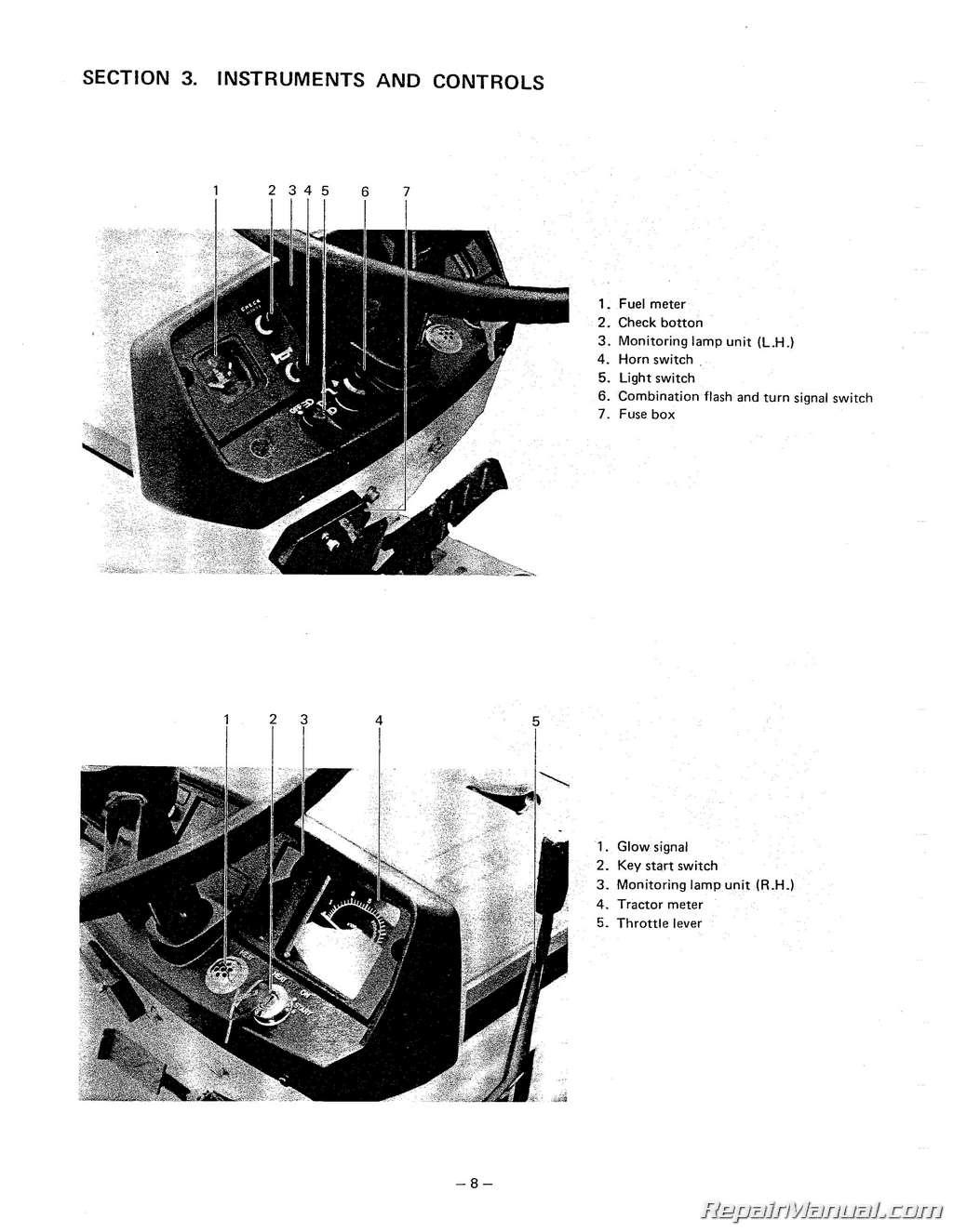Mitsubishi Mt160 Mt180 Compact Tractor Operators Manual