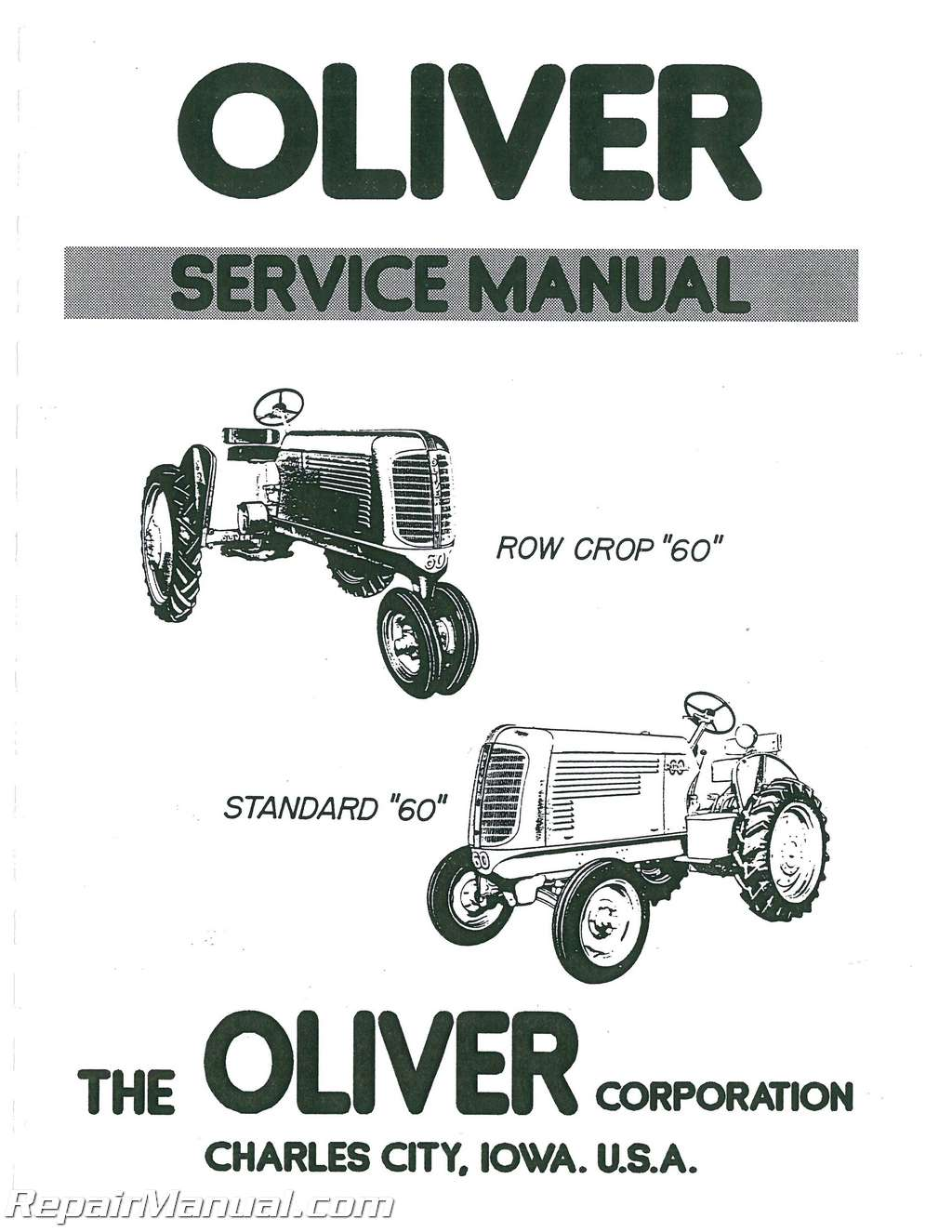 Oliver 60 Wire Diagram Tractor Parts Wiring Diagrams 1850 Free Download Schematic Oven Kenmore 363 9378810 110 47531701