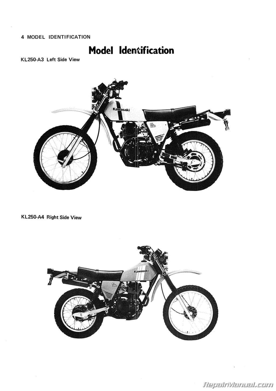 Kawasaki Motorcycle Kl250 Owners Manual