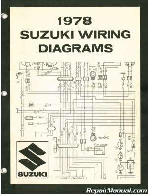 1978 Suzuki Wiring Diagram Manual