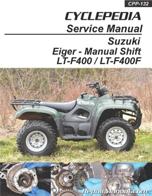 Suzuki Eiger LTF400 LTF400F Manual Shift ATV Printed
