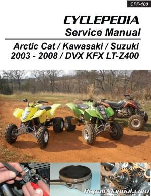Suzuki Kawasaki DVX400 KFX400 LTZ400 Cyclepedia Printed