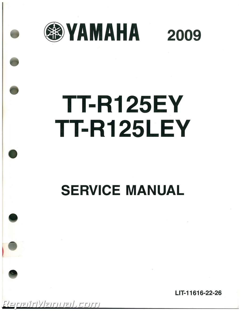 Used And Yamaha Ttr125e Le Service Manual