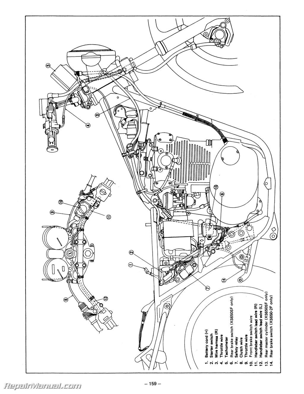 1981 Yamaha Xs650 Parts Diagram