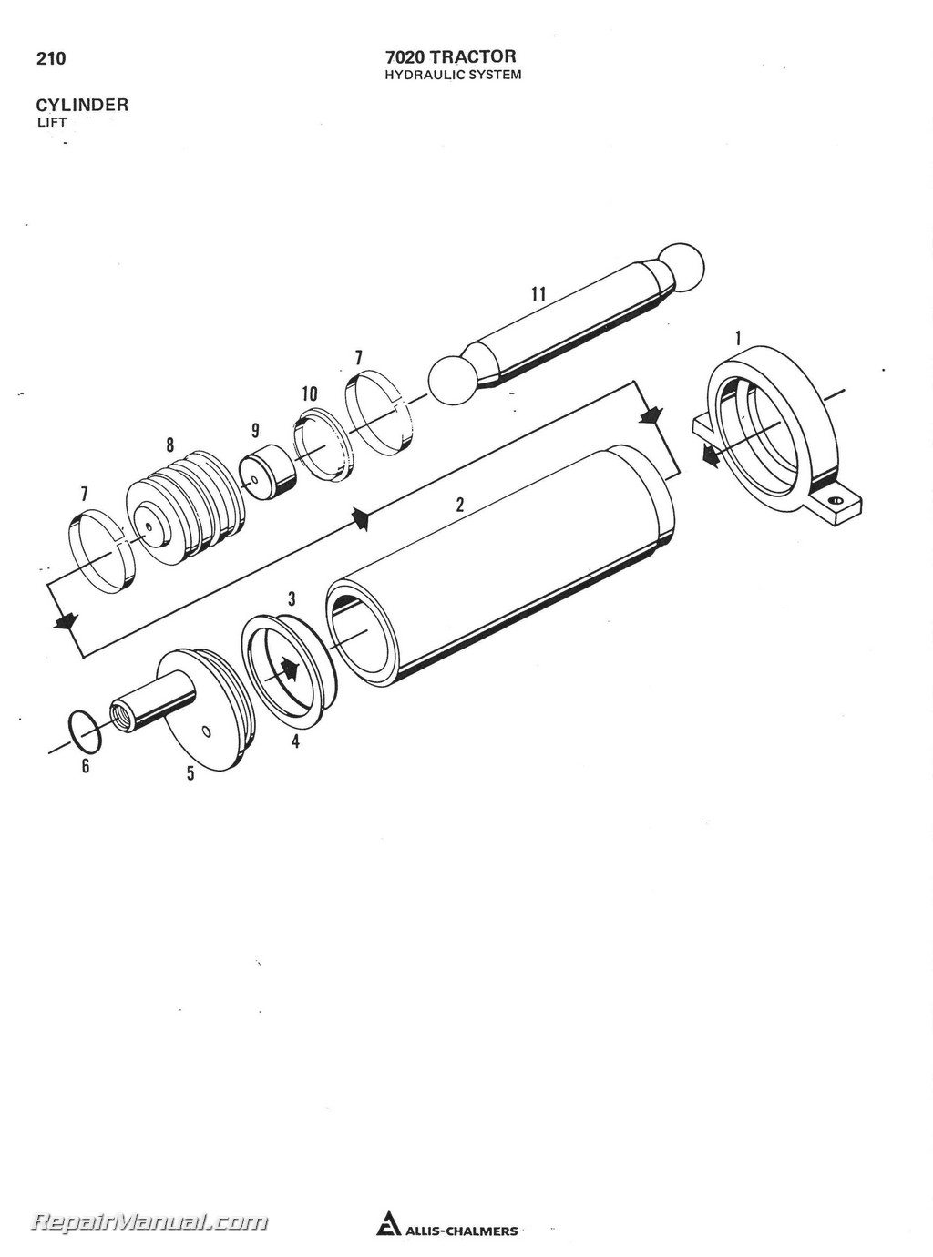 Allis Chalmerssel Tractor Parts Manual