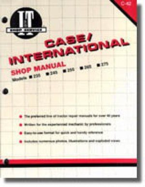 Case International 235 245 255 265 2656 275 Farm Tractor Workshop Manual