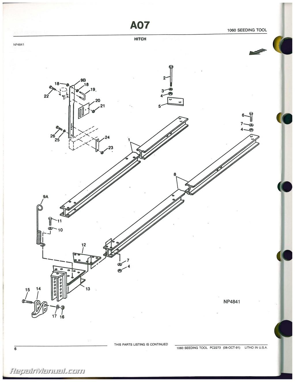 Used John Deere Seeding Tool Parts Catalog