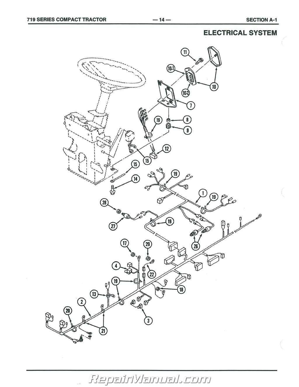 Cub Cadet Series Compact Tractor Parts Manual Form 772 Js Ih P