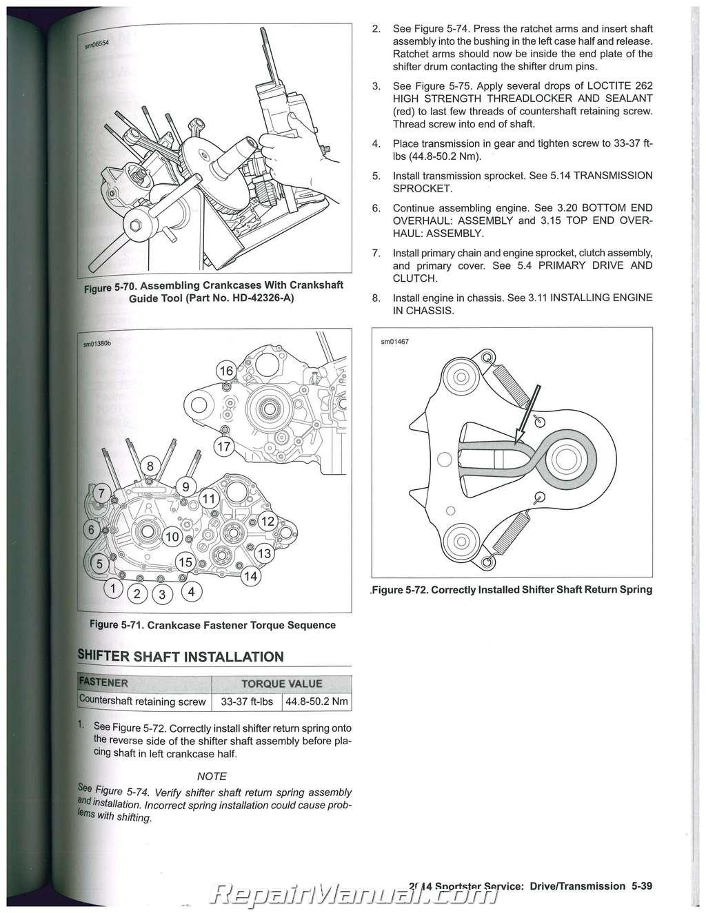 Harley Davidson Sportster Motorcycle Service Manual