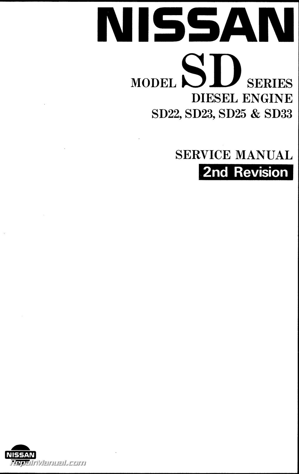 Nissansel Engine Sd22 Sd23 Sd25 Sd33 Sd33t